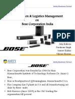 Bose DLM Presentation