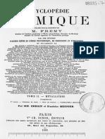 [SURVIE] - Encyclopédie chimique - M. Fremy (1885)