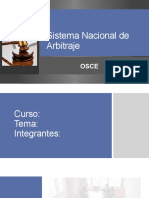 Sistema Nacional de Arbitraje OSCE