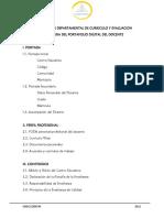 2. Estructura y enlaces - portafolio digital docente 2021