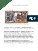 500 años de la conquista de México- Tenochtitlan