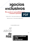 Negocios Inclusivos. Un encuentro de responsabilidad social e innovación empresarial