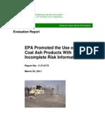 EPA OIG Evaluation Report Coal Ash March 23, 2011