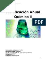 Planificación anual química II