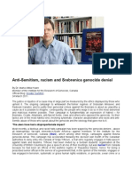 Anti-Semitism, Racism and Srebrenica Genocide Denial