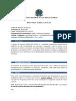 Relatório de fiscalização do Ministério da Saúde