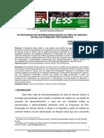 Os processos de internacionalização da área do Serviço Social na formação pós-graduada