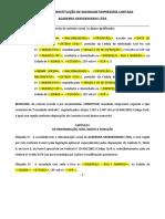 Modelo Contrato Social - Academias