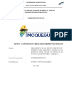 21. MANTENIMIENTO DE JUEGOS RECREATIVOS DE METAL