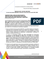 Comunicado SEIEM 08/07/2021