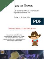JUNIO 11 - CLASES DE TROVAS - GRADO 5