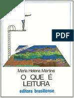 Maria Helena Martins - o Que é Leitura
