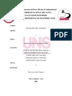 LABORATORIO PREPARACIÓN DE CONCRETO PARA UNA UNIDAD CÚBICA - GRUPO 1