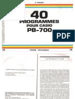 40 Programmes Pour Pb 700