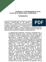 Mecanismos Psicofísicos y Psicobioquímicos de la Acción de la Mente sobre la Materia (I)