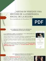 LAS CARITAS IN VERITATE UNA SÍNTESIS DE LAENSEÑANZA SOCIAL DE LA IGLESIA.