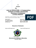 JOB SATISFACTION –A Comparative Analysis of Public and Private Insurance Companies