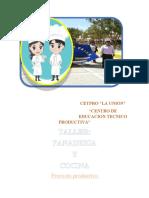 PROYECTO PRODUCTIVO PANADERIA Y COCINA