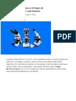 Tipos de microscópio_ Descubra quais são os 16 tipos e suas funções