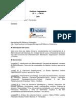 Politica Em Pres Aria Programa 2011 Print Version