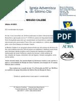 Oficio MISSÃO CALEBE