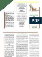 RIEAC- TRÍPTICO PUBLICIDAD MISIÓN VISIÓN- ÚLTIMA ACTUALIZACIÓN Junio 2018- Incluye 07 Postds- LCDS
