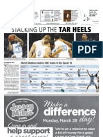 The Daily Tar Heel for March 25, 2011
