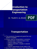 1- Introduction to Transportation Engineering