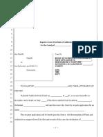 Sample Ex-Parte Motion for California
