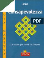 OSHO - CONSAPEVOLEZZA- La Chiave Per Vivere in Armonia-RIZA