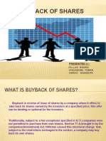 buy-back of shares