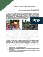 PERU, VIOLENCIA CONTRA LA MUJER RURAL