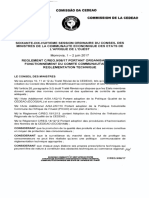 Règlement C REG Portant Organisation Et Fonctionnement Du Comité Communautaire de Règlementation Technique