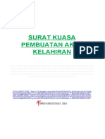 format-administrasi-desa.blogspot.com - SURAT KUASA PEMBUATAN AKTA KELAHIRAN