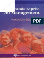 Les Grands Esprits Du Management