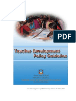 Teacher Development Policy in Nepal 2010