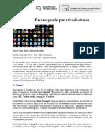 TOP 10 DE SOFTWARE GRATIS PARA TRADUCTORES