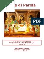 Sete Di Parola - Corpus Domini - X Settimana T.O. - B