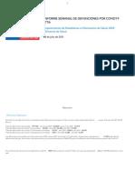 Informe Semanal Defunciones Jul 8 2021 - DEIS