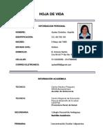 HOJA DE VIDA PDF SIN FORMATOS