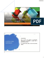 Aula 3 - CC - Contabilidade de Custos I - slides
