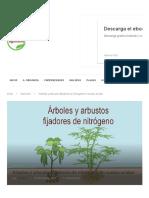 Arboles y Arbustos Fijadores de Nitrogeno en Suelos Acidos - InfoAgronomo