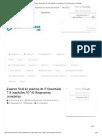 Examen Final de Práctica de IT Essentials 7.0 (Respuestas Completas Capítulos 10-14)