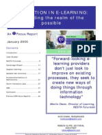 Innovation in e-learning - expanding the realm of the possible (Jan 05)