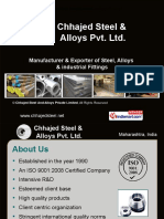 Chhajed Steel And Alloys Private Limited Maharashtra India