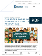 Questões Sobre Direitos Humanos e Cidadania Com GABARITO