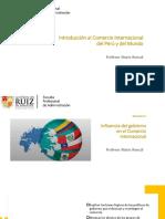 Semana 11 - Influencia del gobierno en el Comercio Internacional