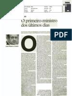 """o primeiro-ministro dos últimos dias - artigo jornal """"i"""" 25-mar-2011"""