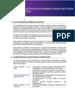 Tema 2 - Estructura de Las Actividades Económicas Según Su Estructura