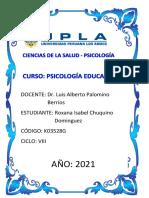TAREA PSICOLOGÍA EDUCATIVA II- TAREA Nº 07